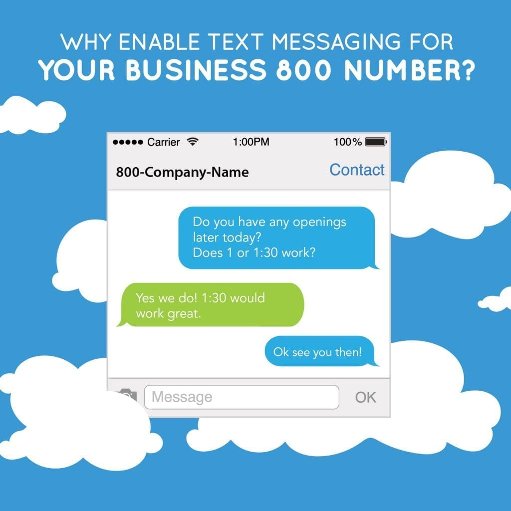 text messaging for business why enable text messages for your business 800 number